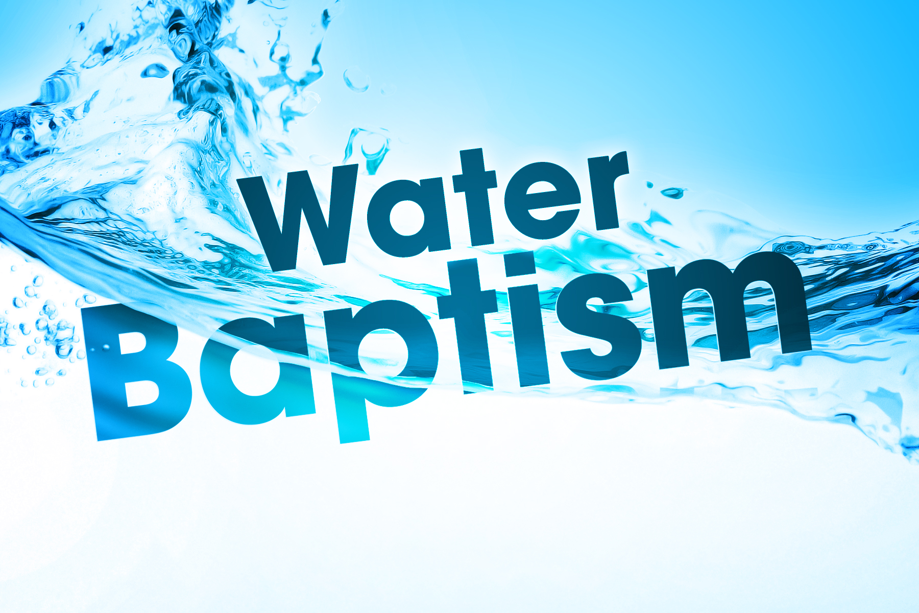 water baptism Water baptism baptism is an outward declaration of an inward choice someone makes when they accept jesus christ as their personal savior and lord it is a symbol of having confessed their.